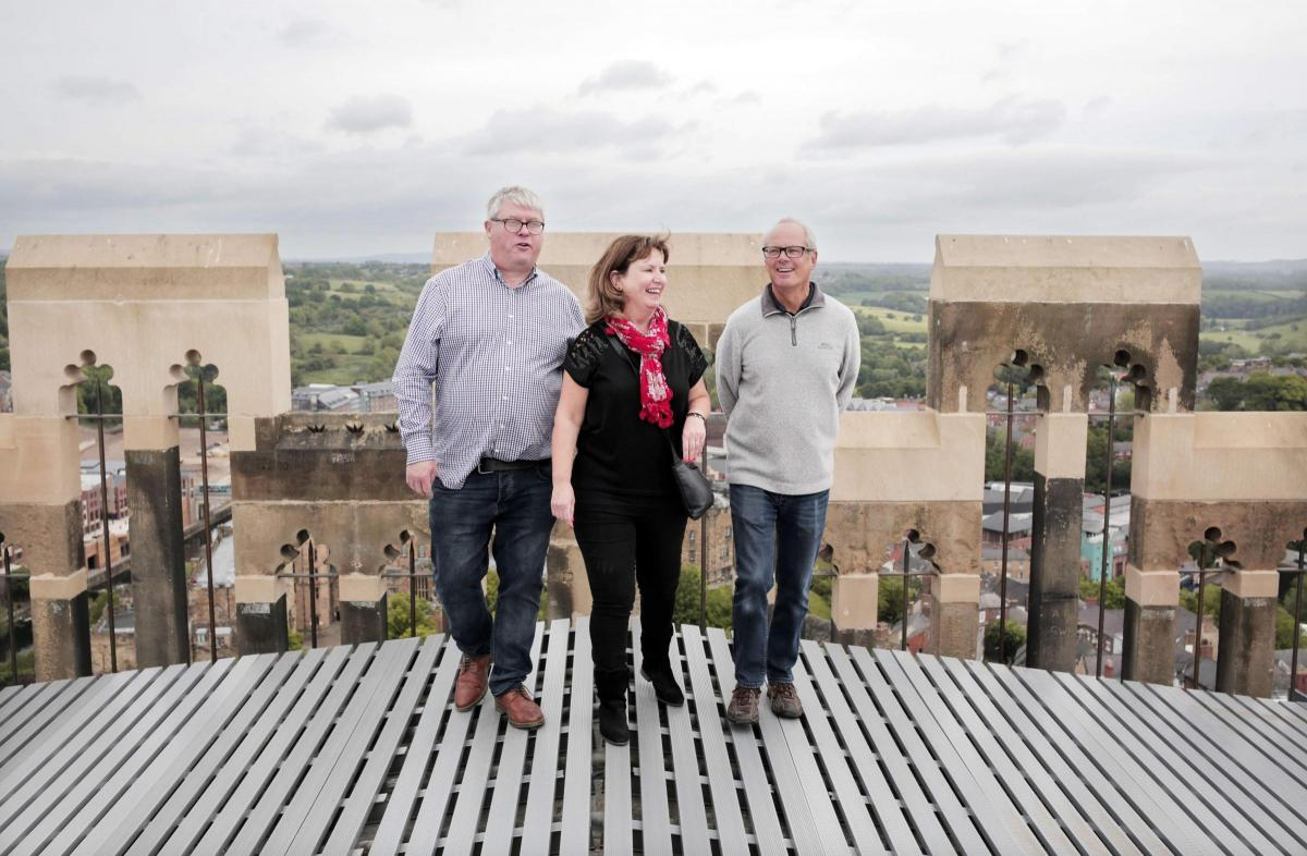 On #ThrowbackThursday of #EnglishTourismWeek were remembering the reopening of the central tower, almost exactly a year ago! @TheNorthernEcho competition winner Heather Prested and her family were the first members of the public to enjoy the amazing views at the top.