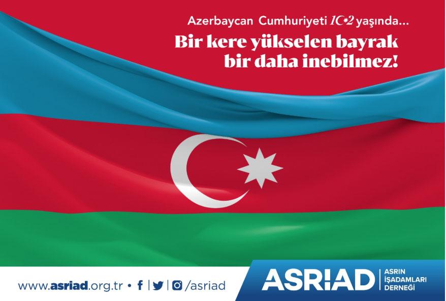 """Dost ve kardeş ülkemiz Azerbaycan Cumhuriyeti'nin kuruluşunun 102. yıl dönümünü ve """"28 Mayıs Cumhuriyet Günü""""nü kutluyoruz. #Azerbaycan #Azeri #Azerbaycan102Yaşında #azerbaycantürkiye #Bakü pic.twitter.com/sVyNtR8jzw"""
