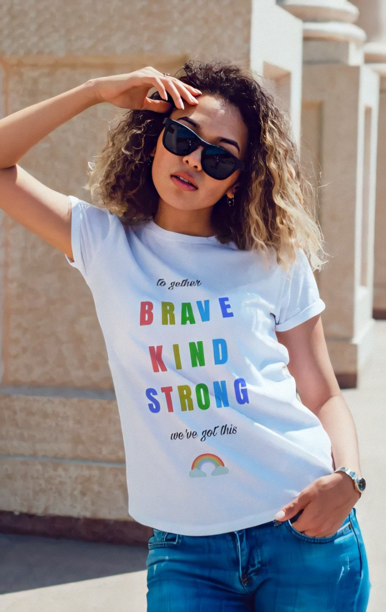 Brave kind strong shirt   Available in store  Get your's now   👇👇👇 https://t.co/OiDXkjsqLF  #BraveNewWorld  #brave #kind #strong #motivation #inspiration #coronavirus #covid19 #mask #design #shirts #usa #girls #rainbow #colors #white #summer #black https://t.co/yDkgmCJtq9