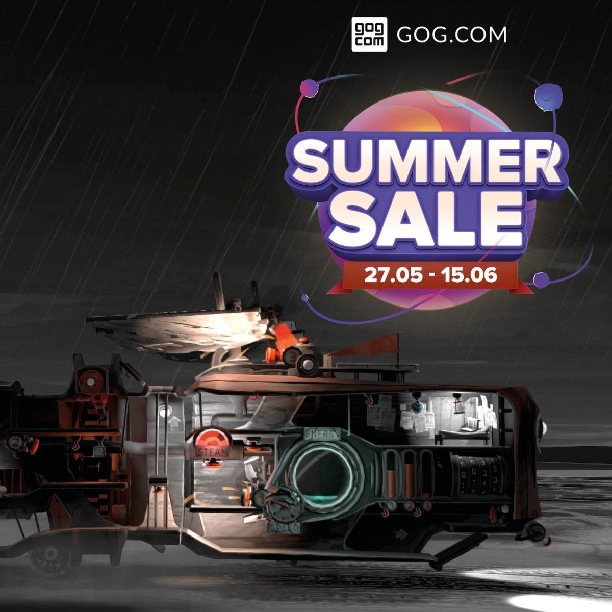 Explore a galaxy full of games and cosmic deals with the Summer Sale on @GOGcom . Were bringing a little fire to the star cluster with a 60 % discount 🔥 gog.com/game/far_lone_… #indiegames #indiedev