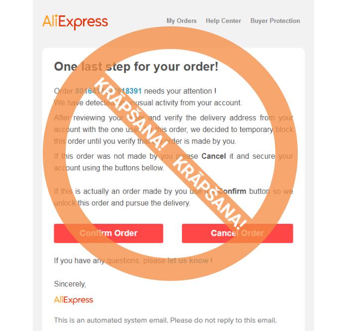 Esam modri! Aktivizējušies krāpnieki, kas sūtījumu piegādes aizsegā izplata krāpnieciskus e-pastus @latvijas_pasts un AliExpress vārdā. https://t.co/GX77Ze11I0 https://t.co/c9NMc5rmZK