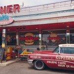 愛知県半田市にあるハンバーガー屋がアメリカンスタイルでインテリアにぴったり