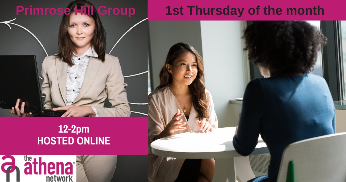 It's our Primrose Hill networking meeting next week- 4 June.  Don't forget these are now hosted online if you would like to join, DM me for information.  #BeYourOwnBoss #NetworkLikeABoss #BusinessNetworking #CreateConnections #InspireSuccess #TheAthenaNetwork #AthenaConnection https://t.co/6vNMysHvaW