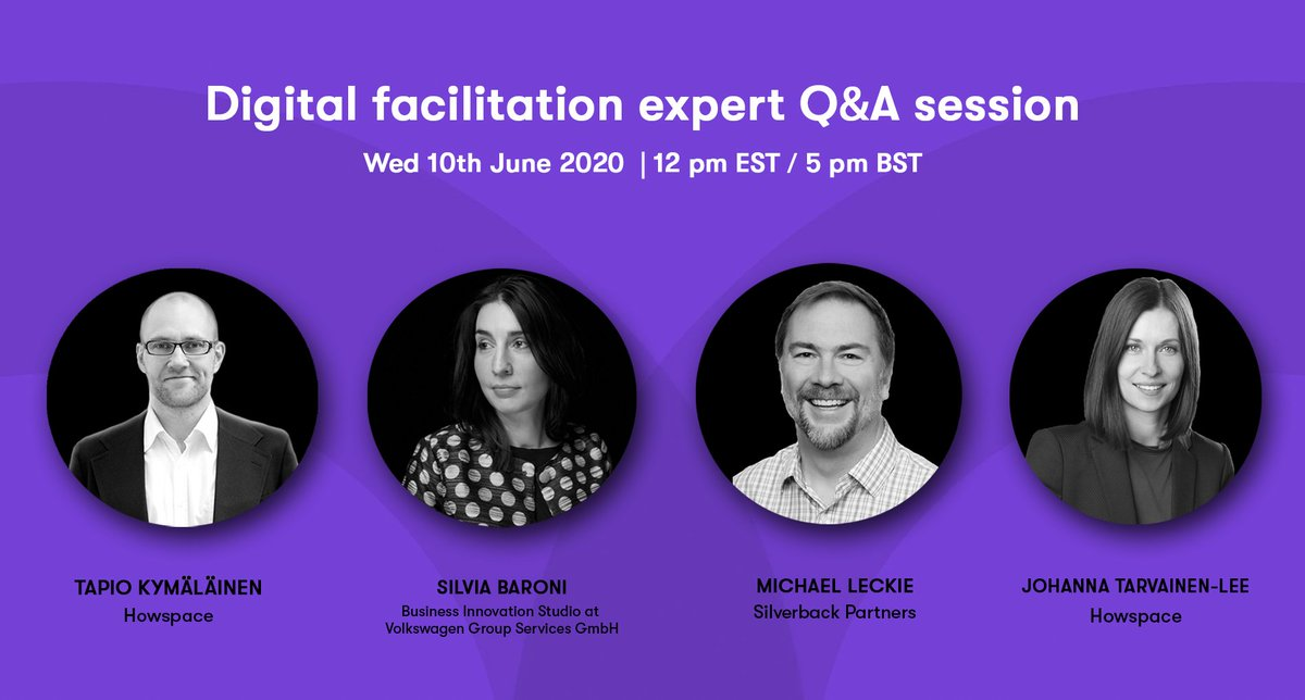 To wrap up our learnings from this spring, answer the most burning questions and to create new solutions, we are putting together a Q&A session with top experts of the changing ways of working. Join us. Ask us. We answer. 🙌@_silviabaroni @leckiemichaelj  https://t.co/EaWozQfjoA https://t.co/5mWPtIzgwC