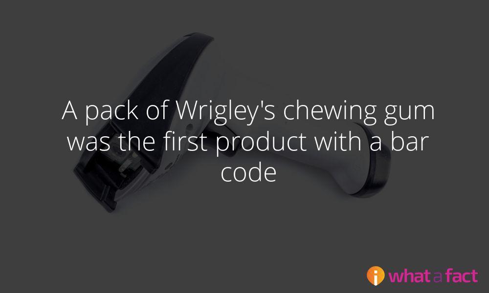 8-) #interestingfacts  More facts at http://whatafact.com http://whatafact.com/en/f/pack-wrigleys-chewing-gum-first-product-bar-code/…pic.twitter.com/vXIJh5U9LD