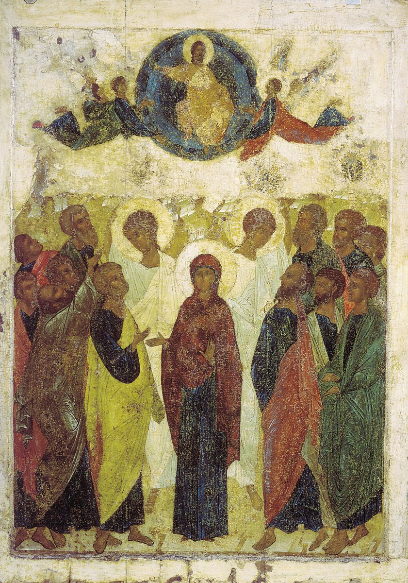 """Today the Greek Orthodox Church celebrates The Ascension of Jesus Christ. """"And surely I will be with you always, to the very end of the age"""". «ιδού εγώ μεθ' υμών ειμί πάσας τας ημέρας έως της συντελείας του αιώνος».  #Greece #Ascensionday #OrthodoxChurch #ΑνάληψητουΚυρίου #gospelpic.twitter.com/16ilP6tGLr"""