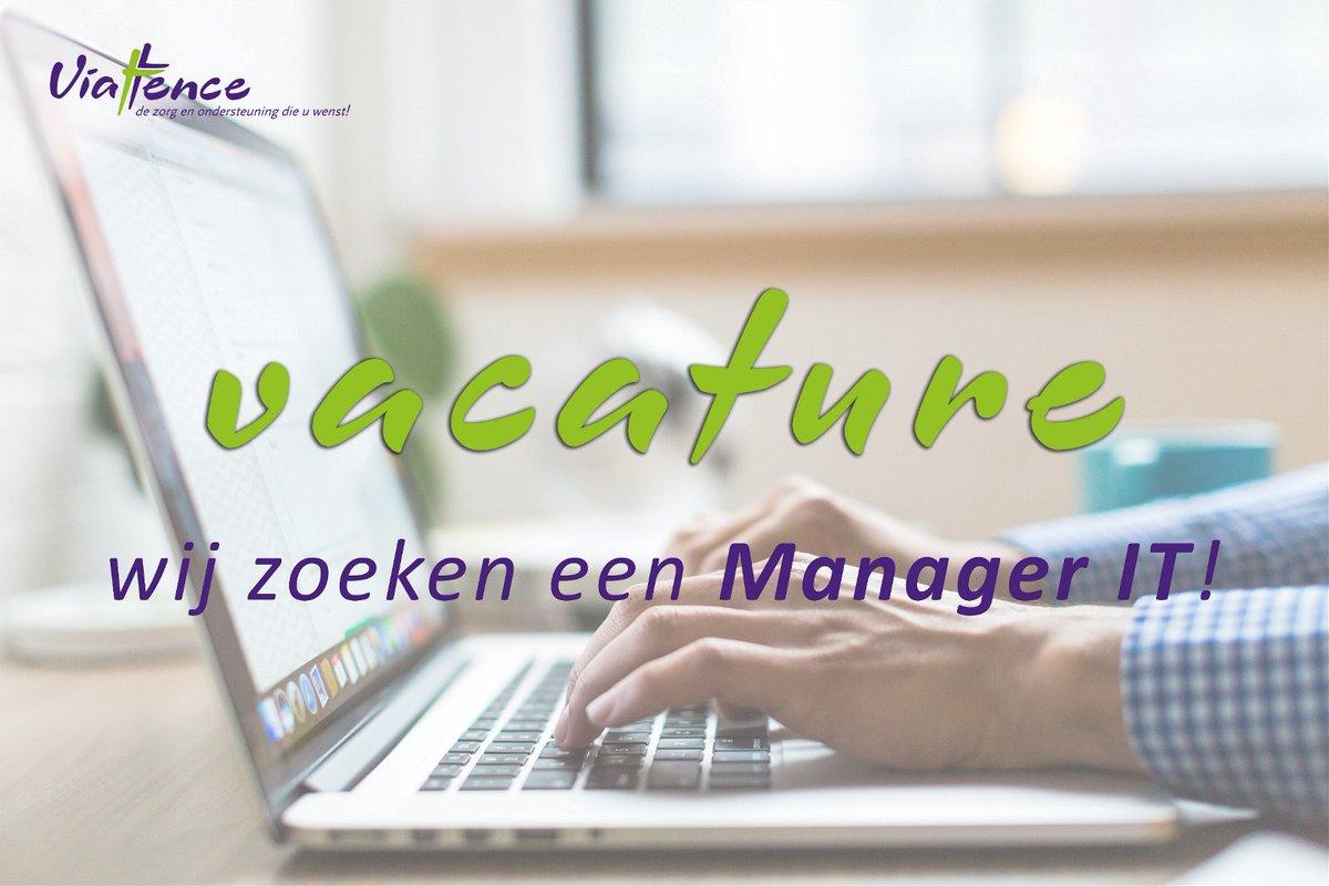 Viattence is op zoek naar een IT-manager die samen met ons de volgende stap zet als regie-organisatie en zich bezighoudt met o.a. de nieuwe digitale werkplek, SaaS-strategie, e-health, domotica, security en privacy. Meer info via: https://t.co/dKbVkdR2nF https://t.co/m8EOUMUBbM