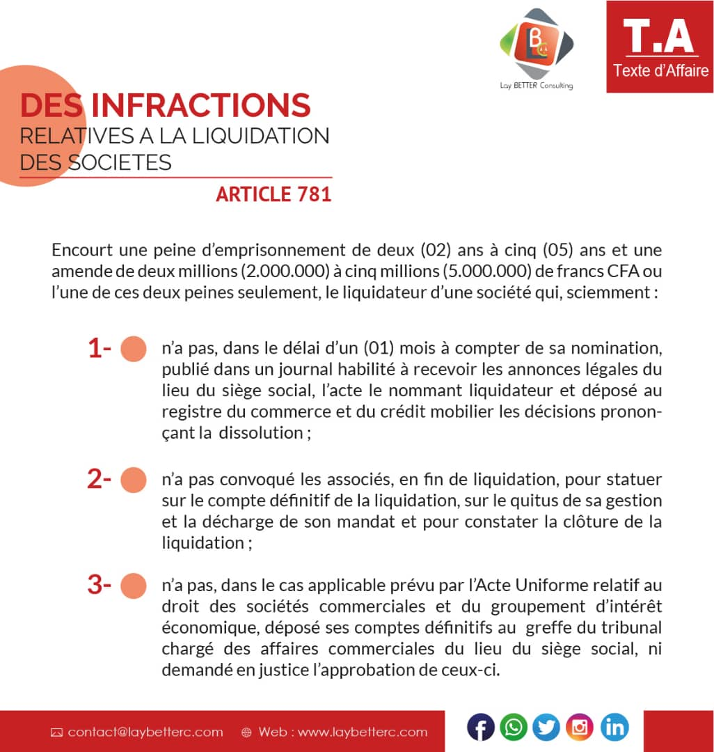 [Texte d'affaires] #Liquidation #Faillite #Sociétés #Infractions #Bénin #OHADA https://t.co/MtPc6FUp60