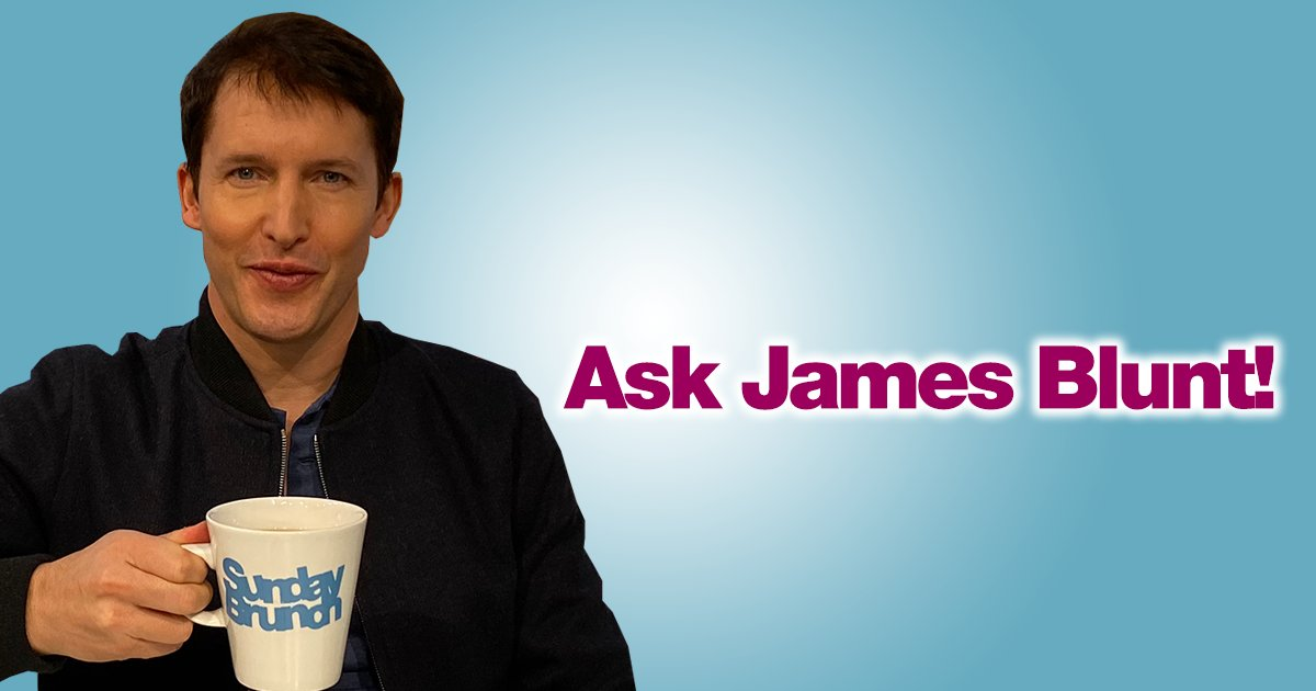 Need some 'Blunt' advice on an issue you're facing? @JamesBlunt will be on #SundayBrunch this week ready to help with an array of issues from relationships to housemate troubles. Tell us what's bothering you and James might help you this Sunday pic.twitter.com/BVXPh4XFT5