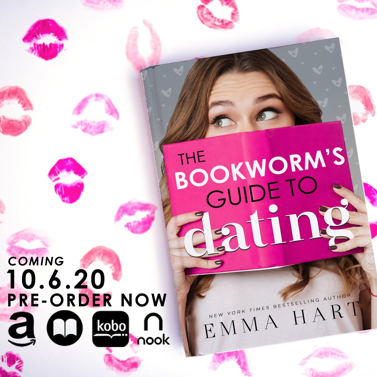Check out the fun cover for THE BOOKWORM'S GUIDE TO DATING by @emmahartauthor! Coming October 6, pre-order now! Amazon US → https://amzn.to/2S7zfvM Amazon UK → https://amzn.to/379Gesn Apple Books → https://emmahart.pub/TBGTDapple Nook → https://emmahart.pub/TBGTDnookpic.twitter.com/w1a5GaA5zf