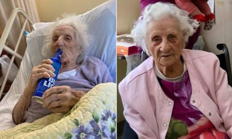 A 103 anni guarisce dal Covid19 e festeggia con una birra (VIDEO) - https://t.co/agzVfDyr90 #blogsicilia #covid19 #coronavirus