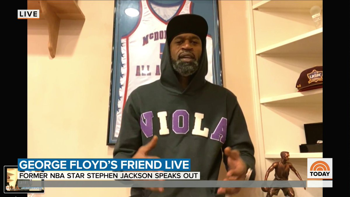 """""""I haven't been the same since I've seen it."""" Watch @craigmelvin's full interview with Stephen Jackson, a former NBA player and lifelong friend of George Floyd, who died while in Minneapolis police custody."""
