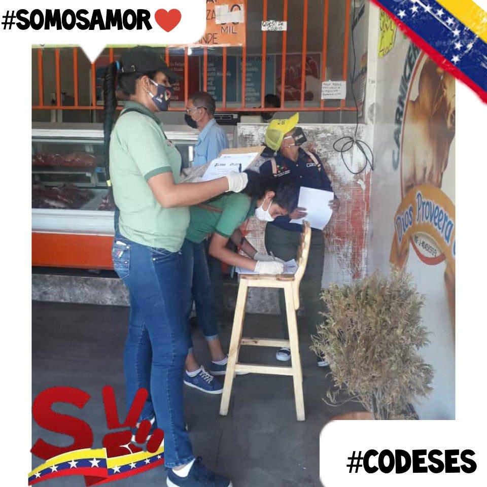 #SomosAmor♥️!👀Equipo de #CODESES abordando los comercios de nuestra Parroquia Guerrera Ana Soto para orientar y hacer respetar las listas de precios Justos, como medida de protección a nuestro pueblo 🇻🇪 @MervinMaldonad0 #VenezuelaDefiendeSuOro