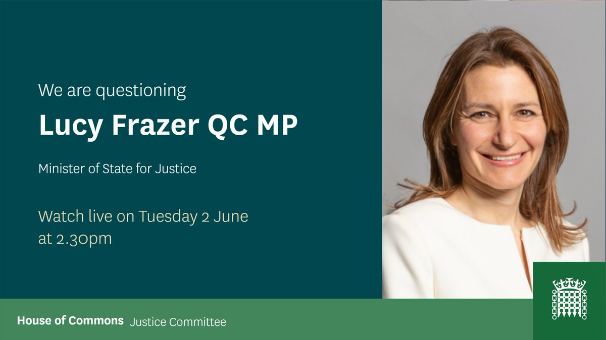 On Tuesday we will take evidence for our inquiry into the youth justice system. The session will focus on: - the secure youth estate - the impacts of #COVID19 on the youth justice system. We will question youth justice stakeholders & @lucyfrazermp 📺 parliamentlive.tv/Commons