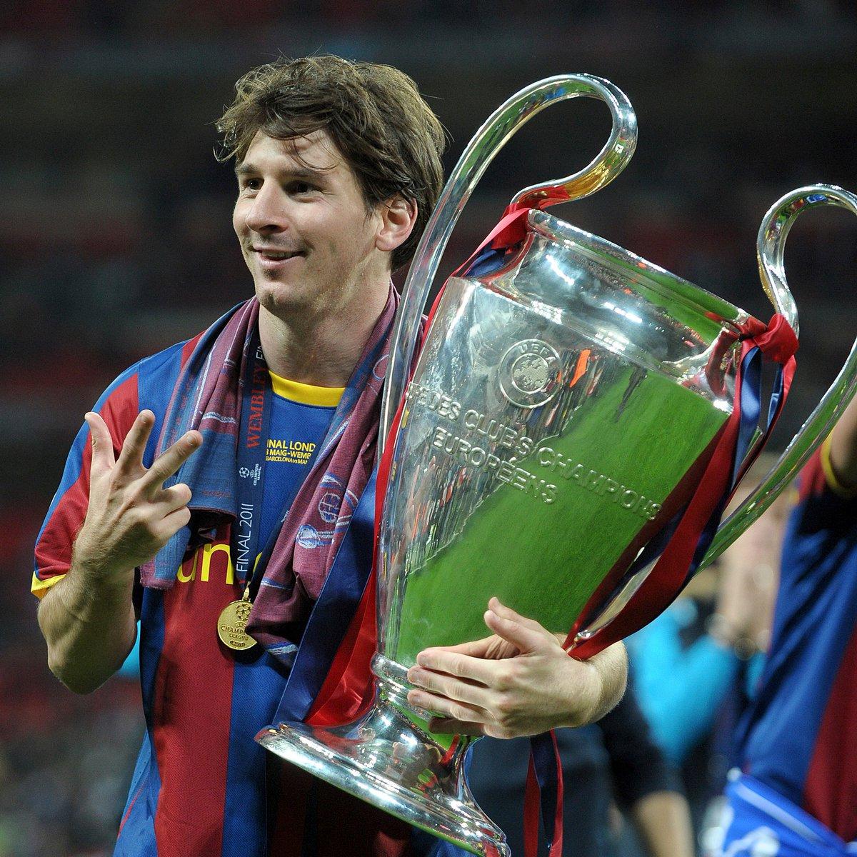 📅 Leo Messi becomes a three-time #UCL winner, #OTD in 2011... 🔵🔴2⃣0⃣0⃣6⃣🏆 🔵🔴2⃣0⃣0⃣9⃣🏆 🔵🔴2⃣0⃣1⃣1⃣🏆 twitter.com/ChampionsLeagu…