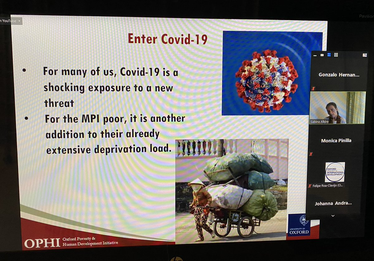 For the poor population #COVID its ANOTHER big problem that adds to the various deprivations they already had: Sabina Alkire @ophi_oxford #MPPN https://t.co/sVFIaAaN0H