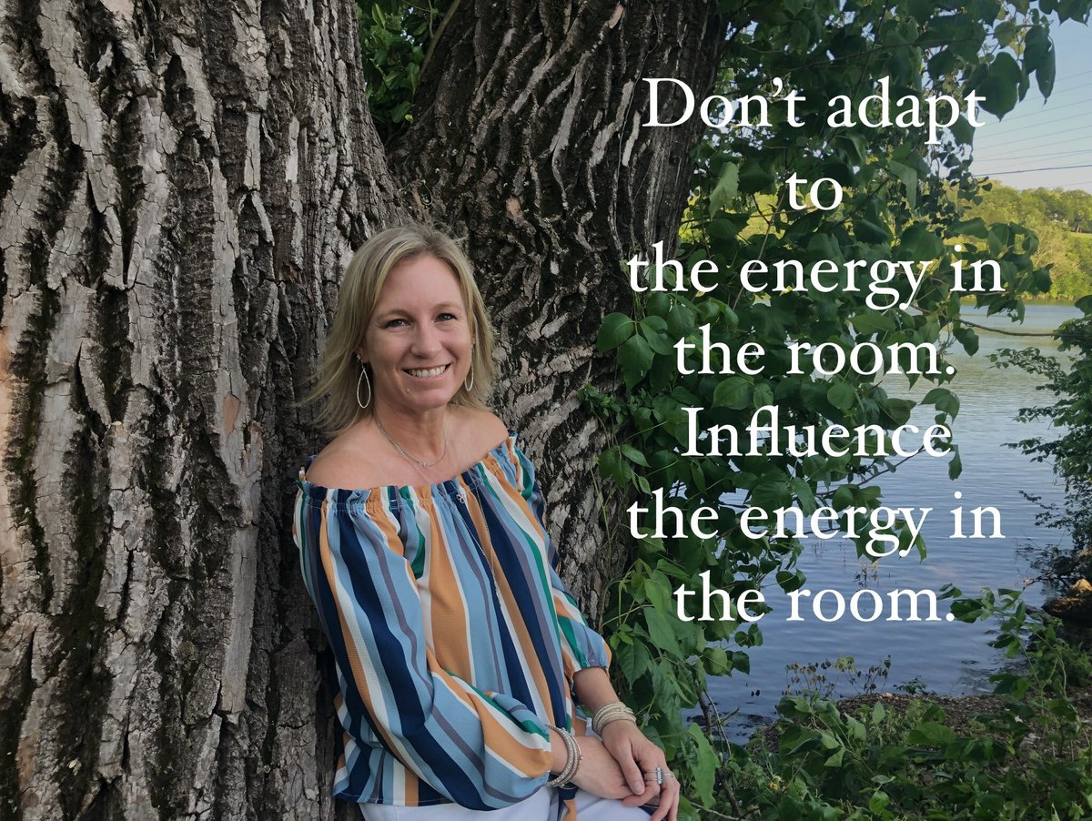 Don't adapt to the energy in the room. Influence the energy in the room.  #ThursdayThoughts pic.twitter.com/VoNwpoL8O2