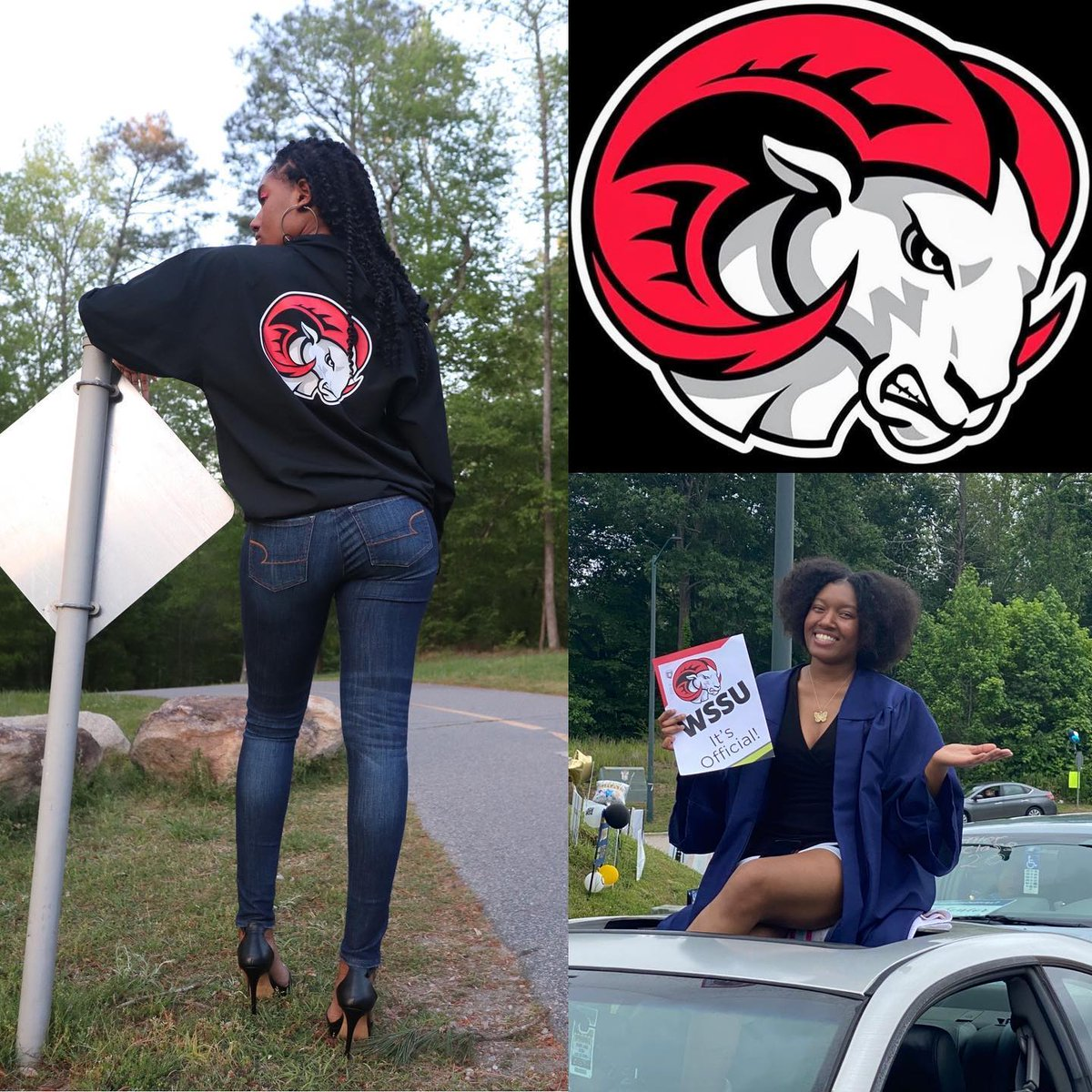 📷 by @kayla_skaii: Closing one Chapter only to Start a New one!!!! Heading to Winston Salem State University Fall 2020!!!! Biology major! Future OBGYN!!!! 🐏 Family!!! @wssu1892 =#wssu24 https://t.co/0pnhvMlRts