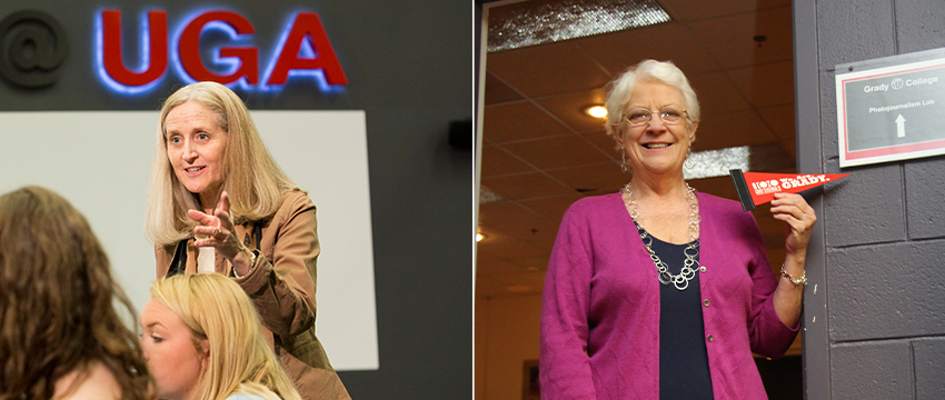 Karen King and Leara Rhodes retire from Grady College with more than 60 years of combined faculty service. We are grateful for their expertise, enthusiasm and friendship.   Best wishes in retirement to these two outstanding instructors.  🔗https://t.co/lKoVkiQTMm https://t.co/vQhZTBassJ