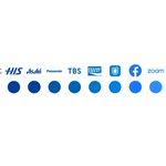 デザイナーさんの企業ロゴ一覧表がきれいでおもしろい。よく見るロゴばかり。