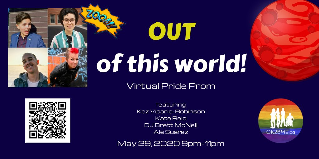 Tomorrow!  There's still time to register for our Virtual Pride Prom: https://www.eventbrite.ca/e/out-of-this-world-virtual-pride-prom-tickets-103524434370… #WRawesome #Cbridge @KezVR @KateReidpic.twitter.com/qxAGg1INy6