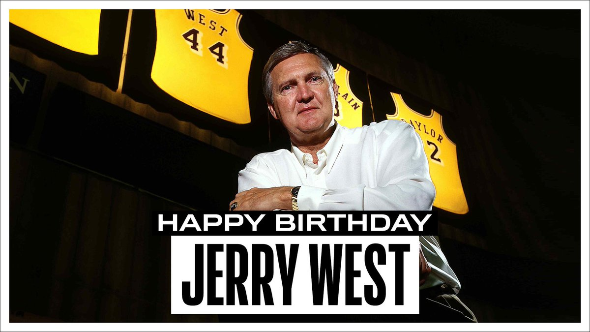 Join us in wishing a Happy 82nd Birthday to 14x #NBAAllStar, 1971-72 NBA Champion, 1969 Finals MVP, and @Hoophall inductee, Jerry West! #NBABDAY https://t.co/KcC0AvRZzL