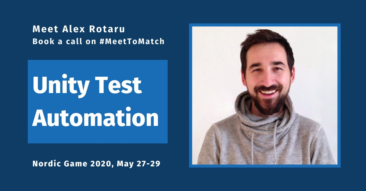 How do you do testing for games you develop? If you're attending Nordic Game, book a call on #MeetToMatch and let's chat about test automation solutions! altom.com/testing-tools/… #NG20 #gamebiz