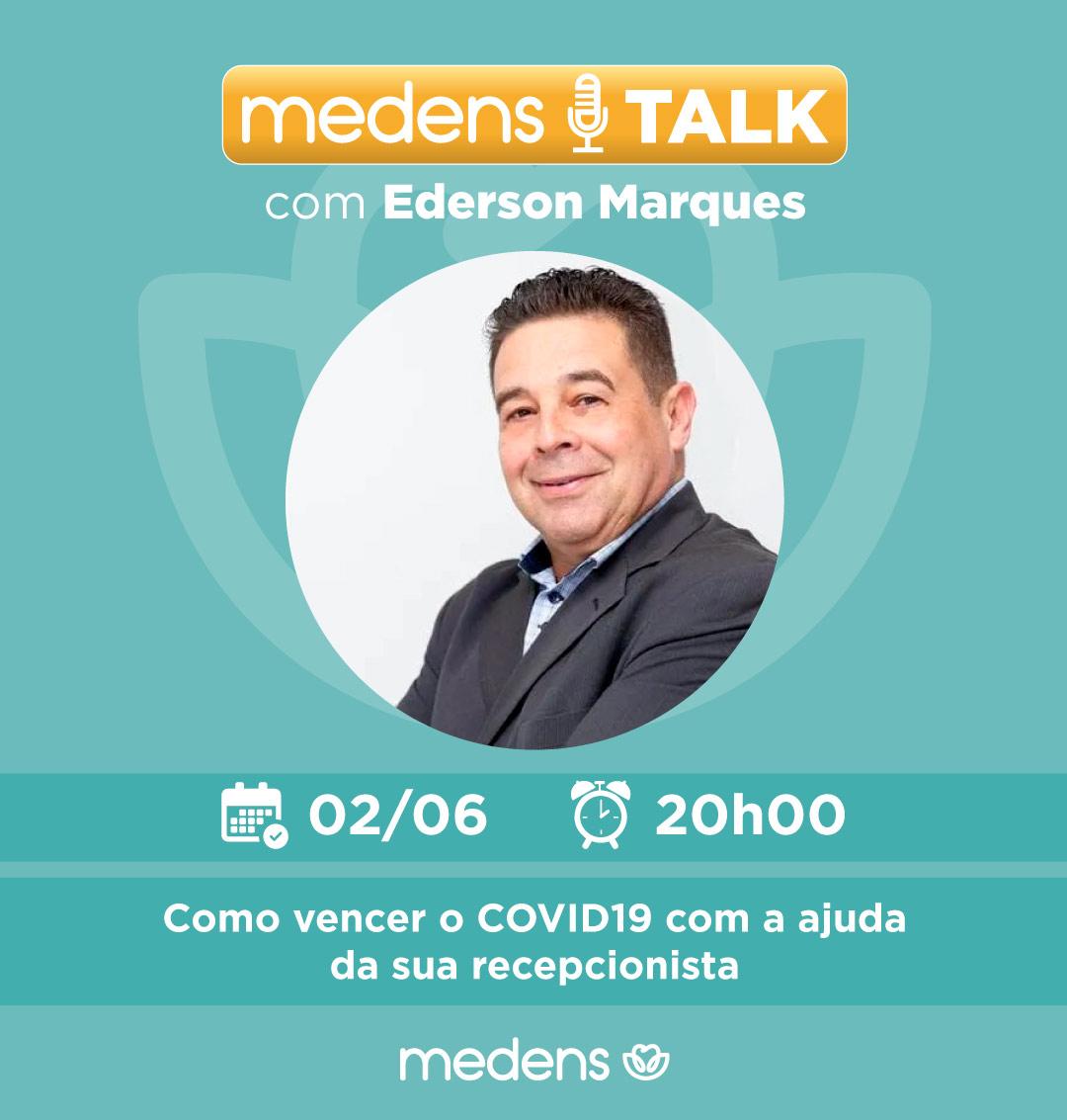 """Medens Talk com Ederson Marques  Dia 02/06 às 20 horas   """"Como vencer o COVID19 com a ajuda da sua recepcionista""""  Inscrição: https://app.99webinar.com/live/medens/ederson-marques…  #atendimento #altaperformance #covid19 #recepcionista #dentista #odonto #medens  #palestraonline #webinar #aulaonlinepic.twitter.com/L4NN3LIVjK"""