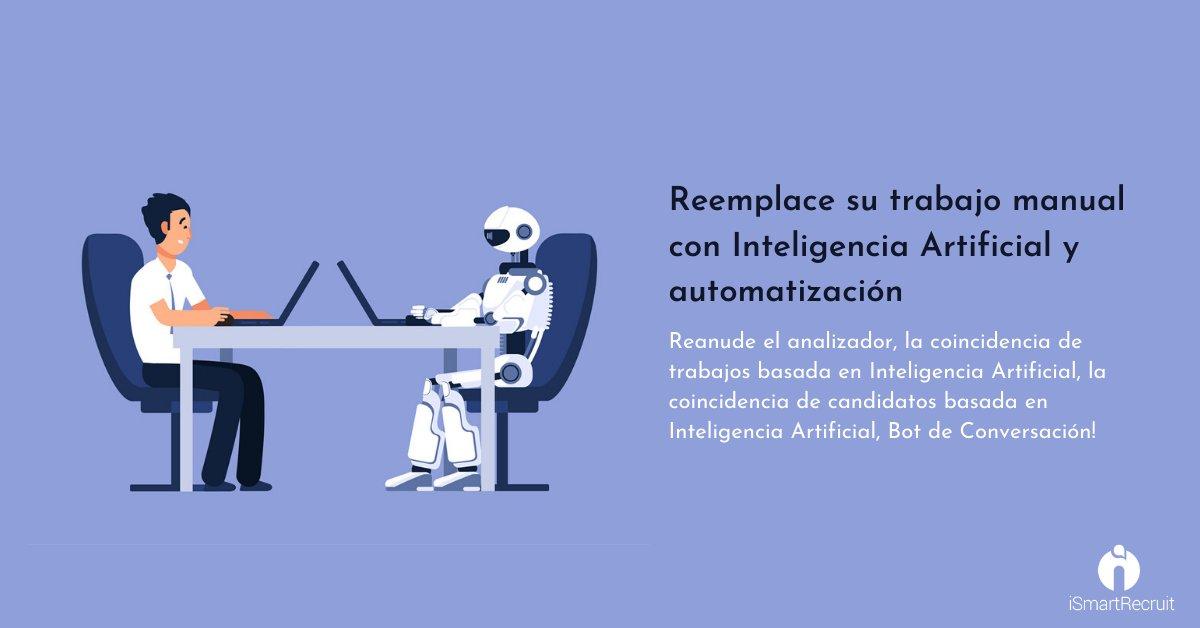 IA le permite reemplazar su trabajo manual y acelerar su flujo de trabajo  https://bit.ly/2AbkQbs  #humanresource #reclutamiento #hrmexico #capitalhumano #rrhh #HRBP #talentohumano #ats #rrhhmexico #rrhhargentina #softwaredereclutamiento #sistemadereclutamientopic.twitter.com/JW8M6eRLRl