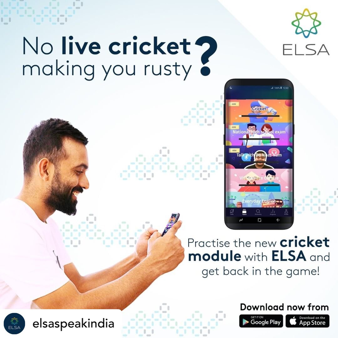 #repost • @elsaspeakindia We often use cricket references in conversations everyday. But are you really pronouncing these words correctly? Download ELSA Speak for FREE and try the new Cricket Module under Topics. #Cricket #Cricketforlife #India #Cricketidioms #cricketlovers <br>http://pic.twitter.com/ALS6knM4Rn