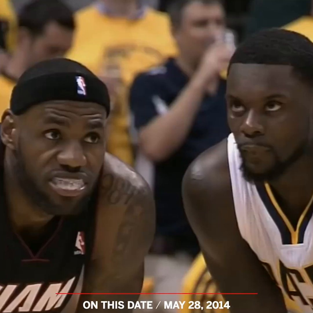 Six years ago today, Lance Stephenson pulled out his secret weapon against LeBron 😗💨