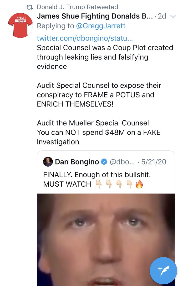 The president began his day by retweeting a QAnon/Pizzagate nutter