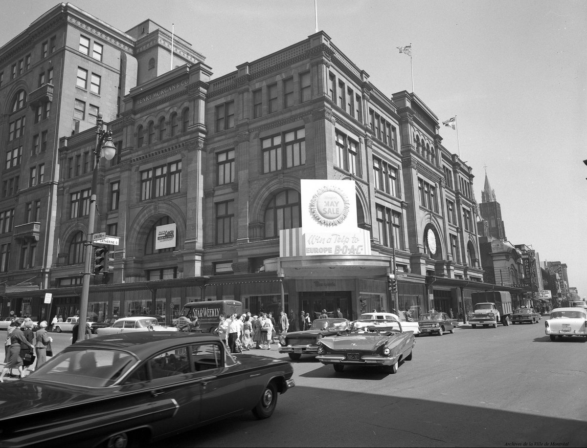 #TBT Sainte-Catherine Street (corner Union) in 1960 #MTL #downtown   @Archives_Mtlpic.twitter.com/wUblOLEuqN