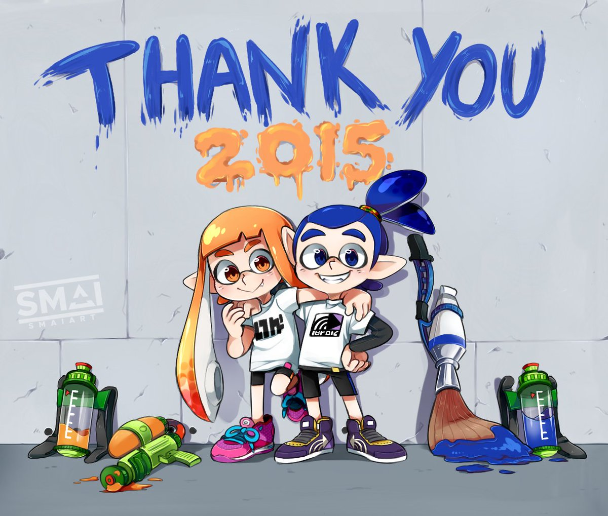 Everyone's sharing old artwork from the good ol' Sploon1 days, here's some of my faves from back then!🦑💙