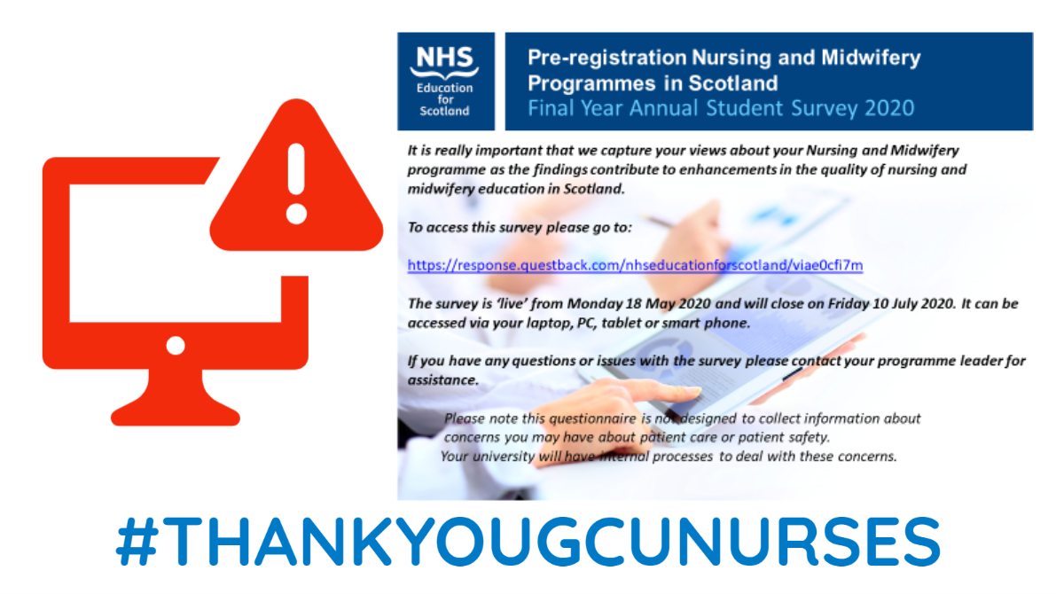 Are you a final year nursing student? This is IMPORTANT! Please logon and leave feedback. response.questback.com/nhseducationfo…