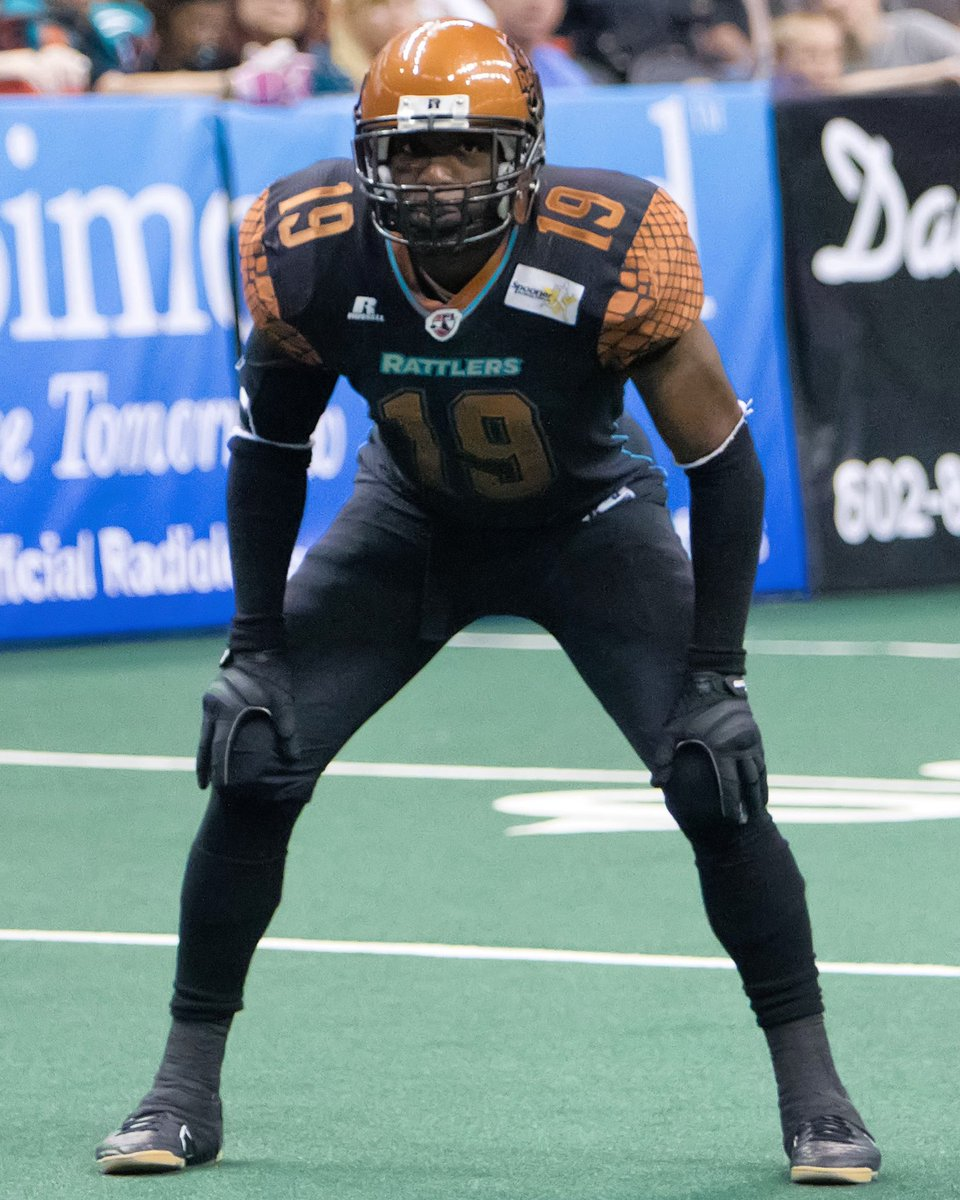 #TBT to lockdown corner Marquis Floyd. Marquis helped lead the Rattlers to three straight Arena Bowl championships from 2012-2014. He was named AFL defensive back of the year in 2014 and has 60 total interceptions in his AFL career. #StrikeAsOne #FloydIsland pic.twitter.com/y3RQNPfXSG