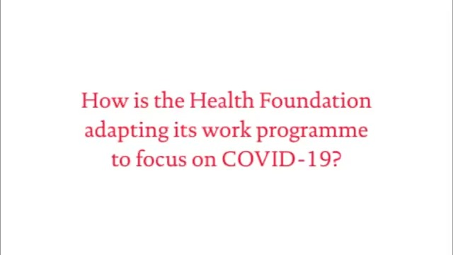 NEW: The Health Foundations Chief Executive @JenniferTHF outlines how weve adapted our work programme to focus on four key questions on #COVID19. Read more in her new blog ➡️ health.org.uk/news-and-comme…