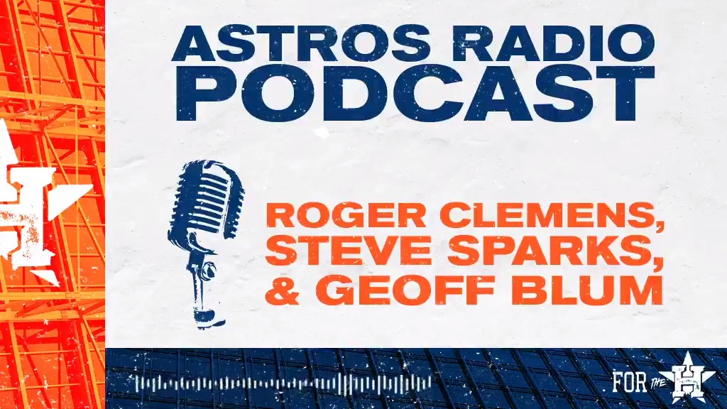 The Rocket, @rogerclemens, is today's @AstrosRadioMLB Podcast special guest! 🎙: bit.ly/2XF1XWA #ForTheH