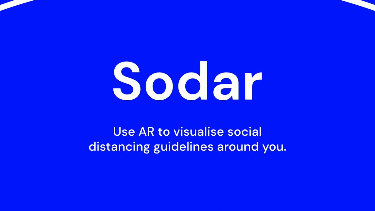 Image for the Tweet beginning: Introducing Sodar, an #AR experiment
