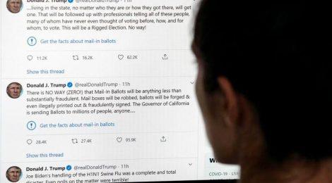 Twitter segnala due twitt di Trump - https://t.co/10V7CCHCGK #blogsicilianotizie