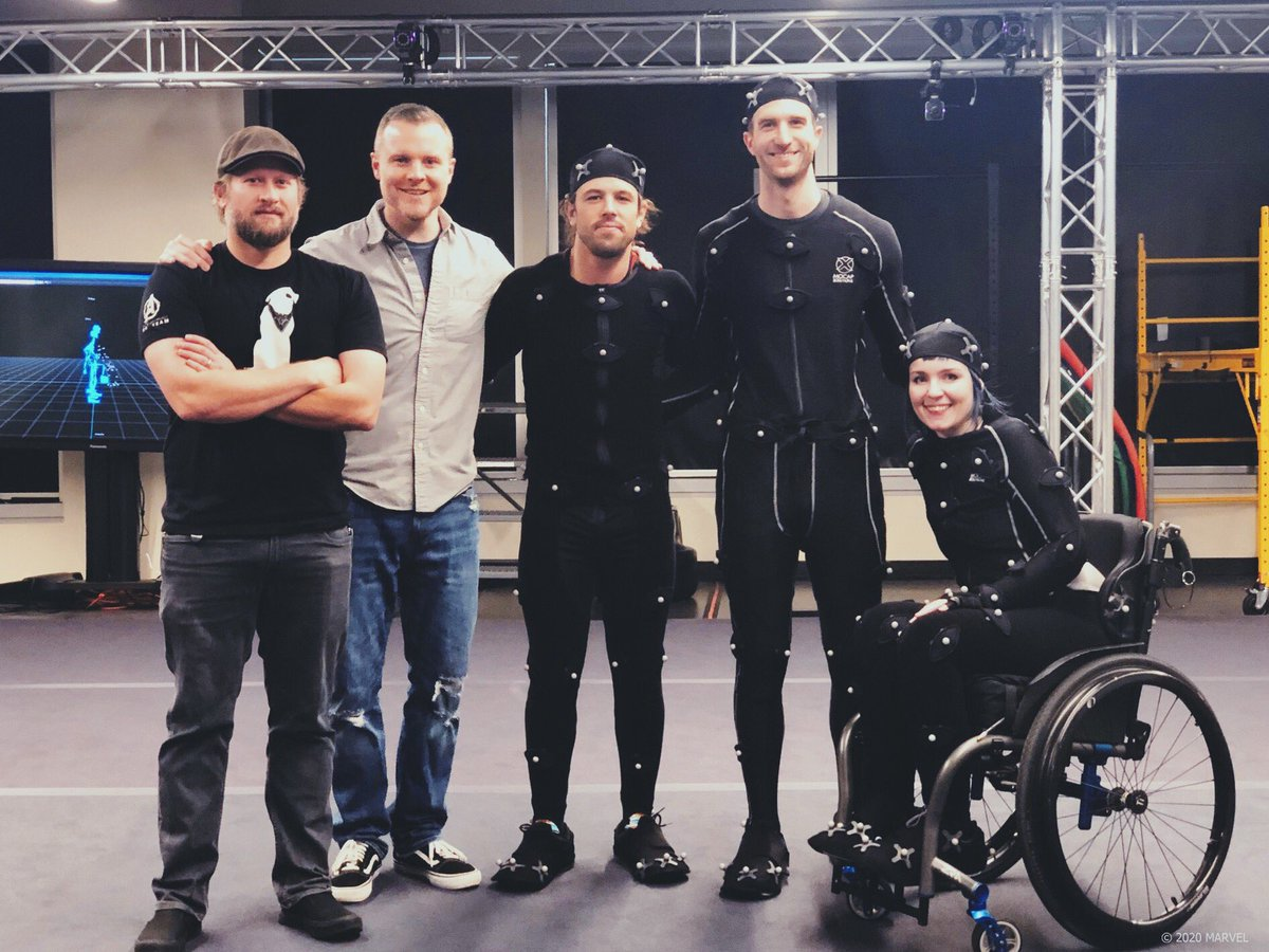 Me on a motion capture set with stunt men