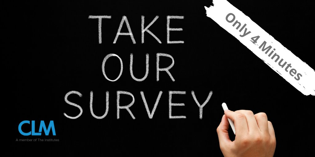 Four minutes to spare? Take this quick, confidential survey to provide insights on recent changes in claims frequency related to the COVID-19 pandemic.  https://bit.ly/2M5vUtk   #CLMCommunity #Insurance #ClaimsManagement #InsuranceClaims #Claims #Adjusterspic.twitter.com/peEbTx4lJ4