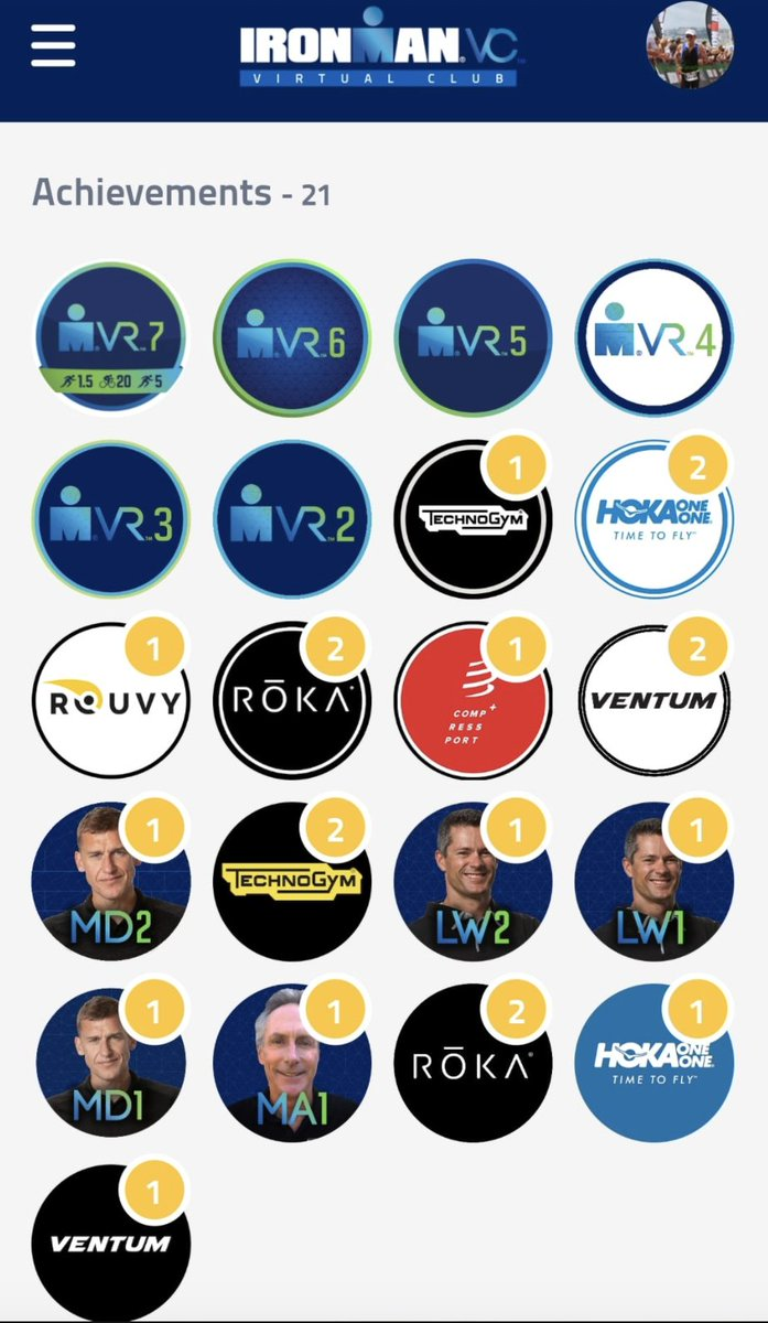 🏅 Show em off! After new Challenges and another VR since last week, how is your digital badge collection looking? #IRONMANVirtualClub #AnywhereIsPossible