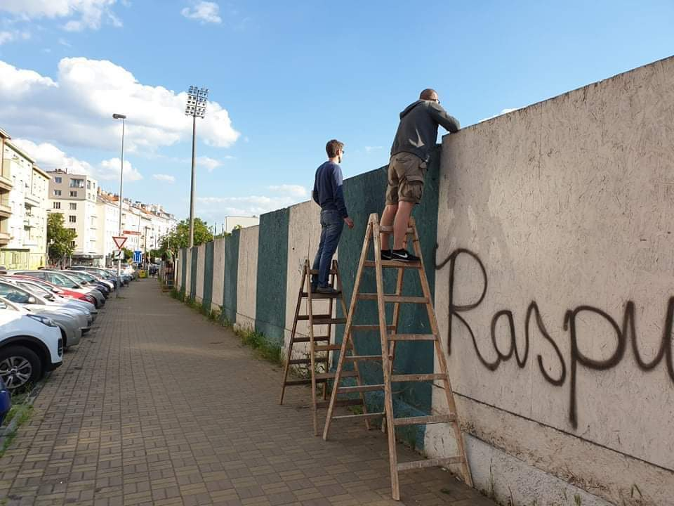 Bohemians 1905 fans try watch their game against FC Zlin