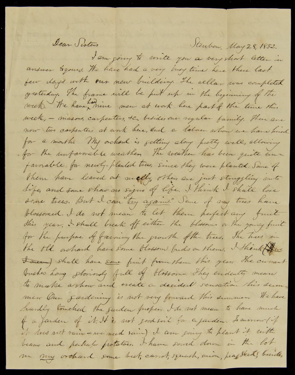 #OnThisDay 1832: We had some exceedingly pleasant rides before mother came home. Since then Miss C hasn't been as willing to ride w me. I am afraid mother has been talking this over & wounded her delicacy. Don't you think mother too sensitive & particular? http://publications.newberry.org/transcribe/page/?itemid=151&pageid=35280…pic.twitter.com/FdWtEHemyU