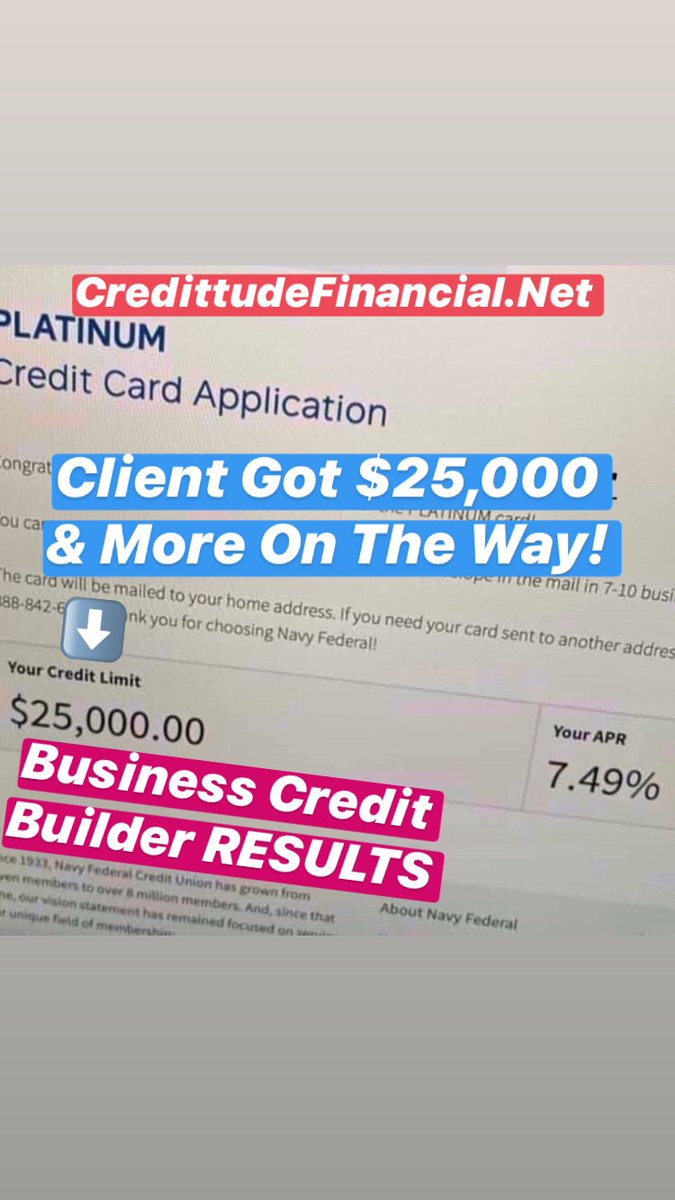💰Let's click like to celebrate another successful Business Credit client! Get $400,000 business credit now! . #businesscredit #MortgageBroker #Realtor #megantheestallion #incometax  #InteriorDesigns #chicago #LuxuryHomes #interiors #kellerwilliams #century21 #fortunebuilders https://t.co/li8sAnhHqL