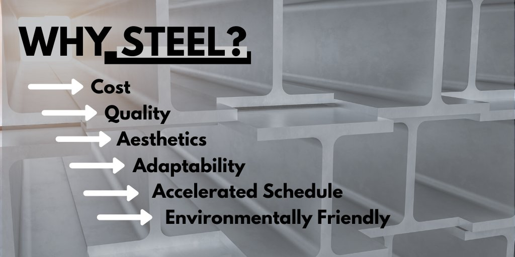 Structural steel for construction brings great value to a project. The American Institute of Steel Construction has put together its top 10 reasons that steel is a preferable material for construction when compared to other framing materials. buff.ly/2sR8cYH @aisc