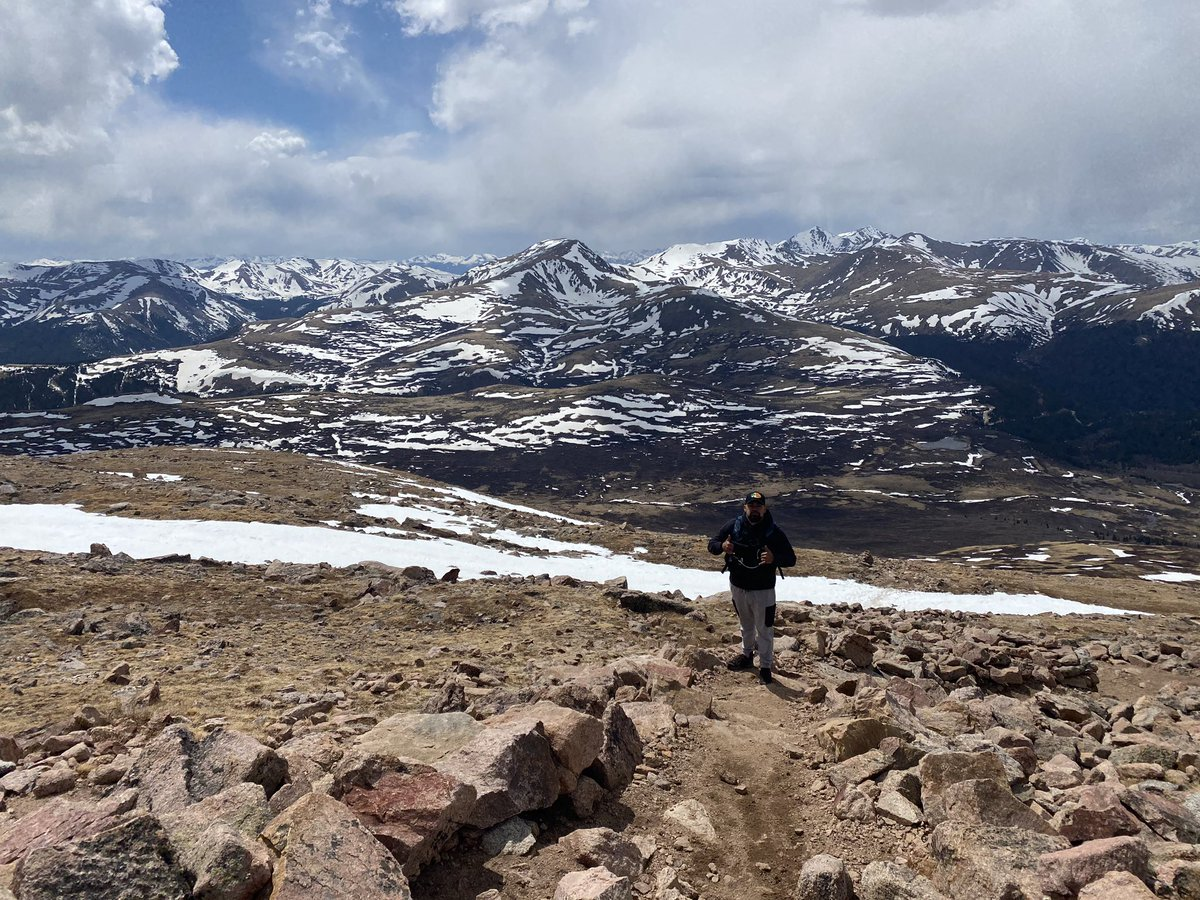"First ""14er"", the lack of oxygen was wild.  #Colorado pic.twitter.com/DUciEXfbWj – at Mt. Bierstadt Summit"