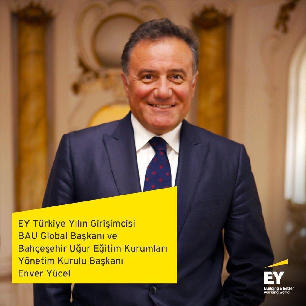 """EY Türkiye 2020 """"Yılın Girişimcisi"""" seçilen ve dünya genelinde Türkiye'yi temsil edecek olan BUEK Başkanımız Sn. @EnverYucel için oylamaya katılarak destek verebilirsiniz.   👉🏻 https://t.co/I4JOWi3Yi4 https://t.co/uf4Gc1vr7O"""