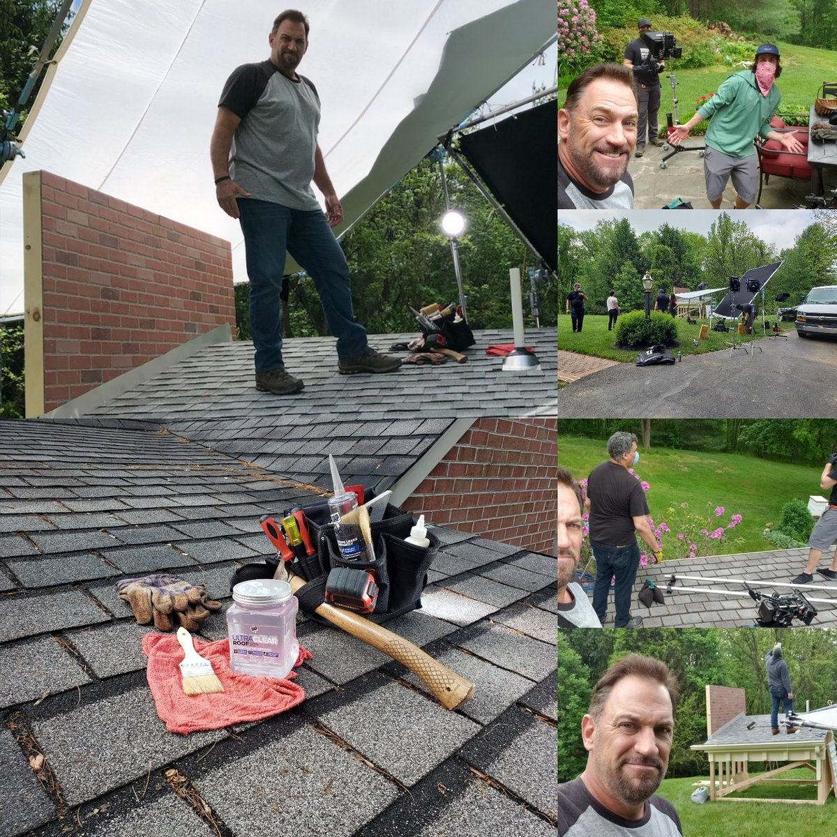 RT  Great Shoot with @DAPproducts Brochure Commercial. Watch Out Tim The Toolman Taylor I'm coming for you!!! LOL! @NakedAndAfraid @HomeDepot @Lowes #ej #tools #roof #h…